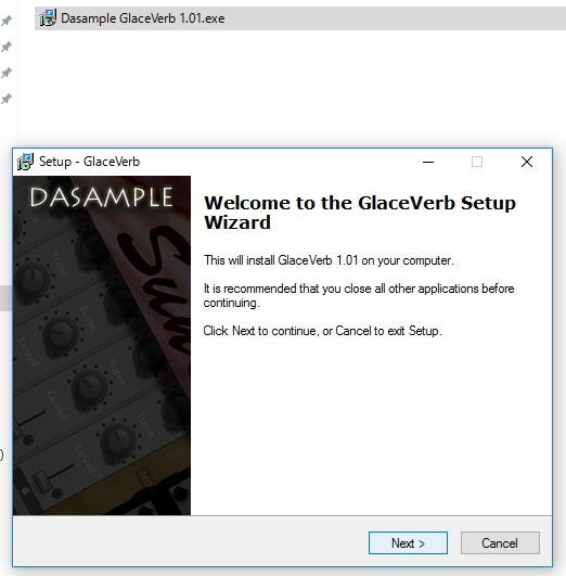 Glaceverbセットアップウィザード