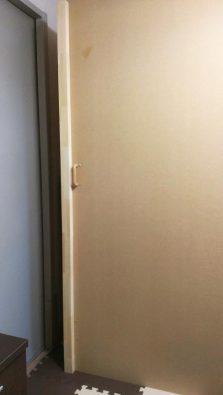 自作防音室の扉 パイン集成材で補強完了