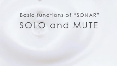 Basic functions of Sonar SOLO and MUTE SONARの基本機能 ソロとミュート