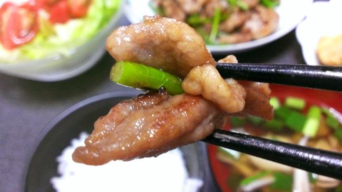豚コマ肉とニンニクの芽のオイスターソース炒め 実食