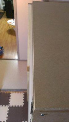 自作防音室の扉 歪み計測 上から目視