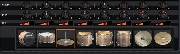 SI-Drum Kit のコンソール画面