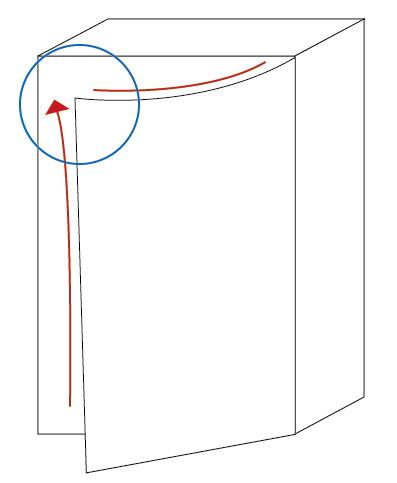 自作防音室扉の歪み図