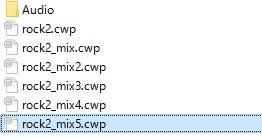CWPファイルをコピー