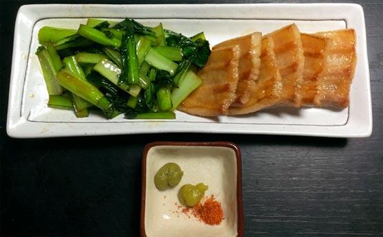 豚バラ肉と小松菜のシンプル炒め 完成