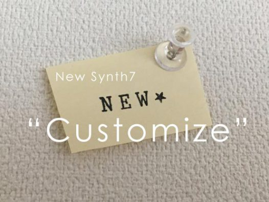 new synth7 Customize