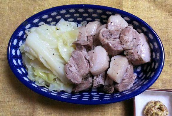 豚ロースとキャベツの簡単蒸し物