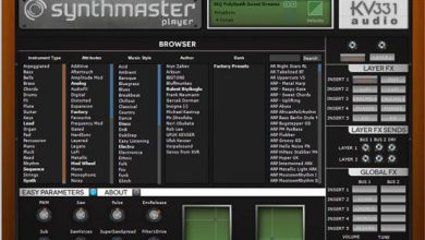 Synth Master Player Free コントロールパネル