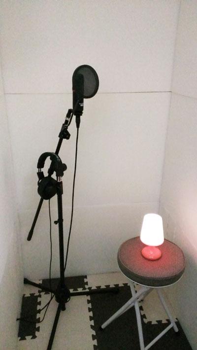 自作防音室内のプチリニューアル完了