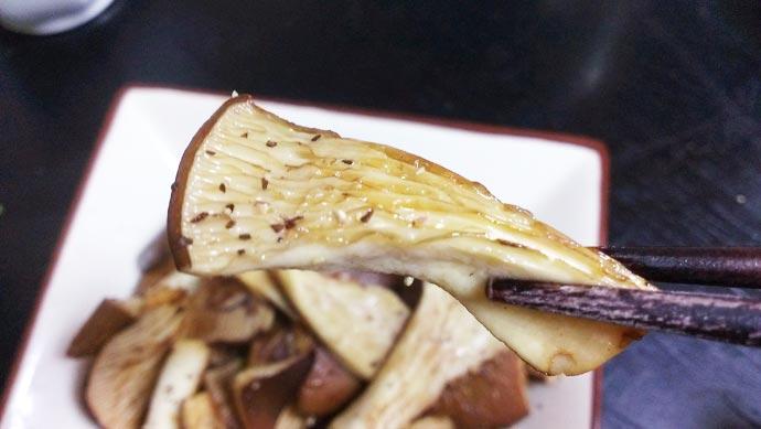黒あわび茸のバターソテー 実食
