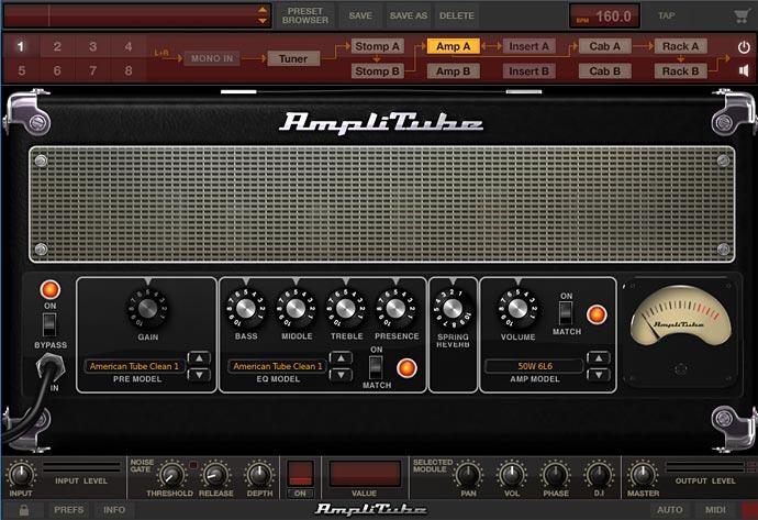 Amplitube 画面