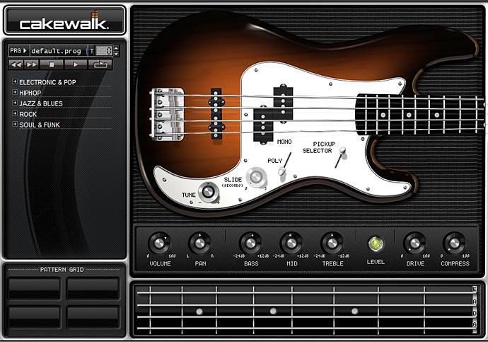 SI-Bass Guitar 画面