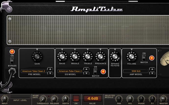 Amplitube 画面 American Tube Clean2