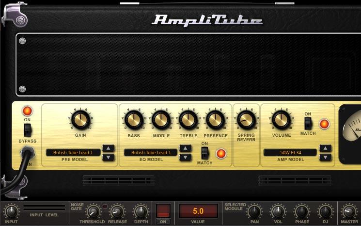 Amplitube 画面Amplitube 画面 British Tube Lead1