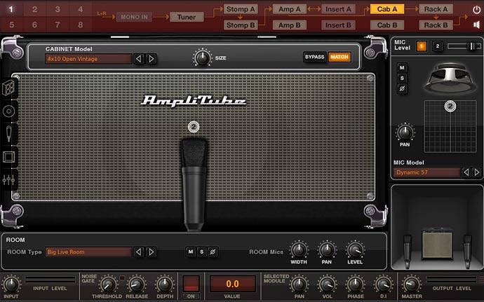 Amplitube 画面 Cab A