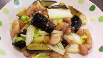 ナスと豚バラの油味噌