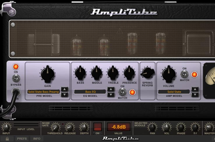 Amplitube 画面 ・Solid State Bass Preamp