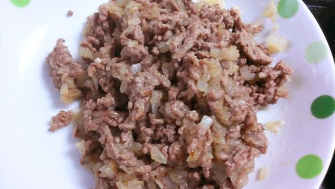 挽肉と玉ねぎ、完成