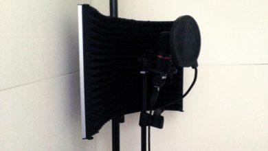 リフレクションフィルターを自作防音室に設置した
