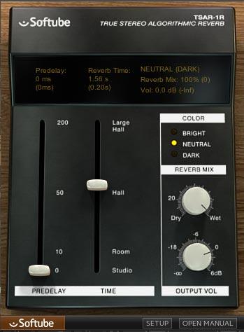 TSAR-1R 大きいリバーブサイズ