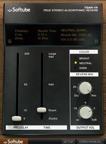 TSAR-1R 小さいリバーブサイズ