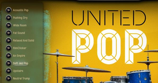 Addictive Drums2 画面 音色「Soft Jazz Pop」