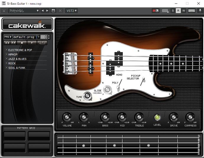 Si Bass Guitar 音色は「Default」