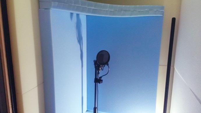自作防音室にウレタンフォームを追加