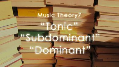 Music Theory Tonic subdominant Dominant