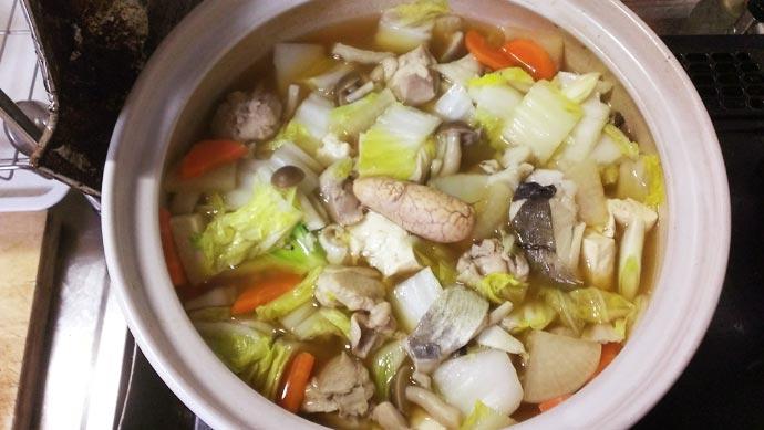 普通の鍋 完成