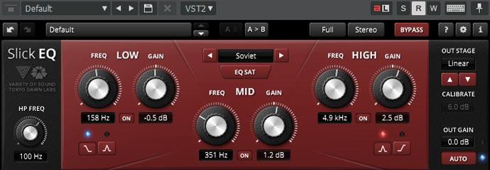 *TDR VOS SlickEQの設定「Soviet」*