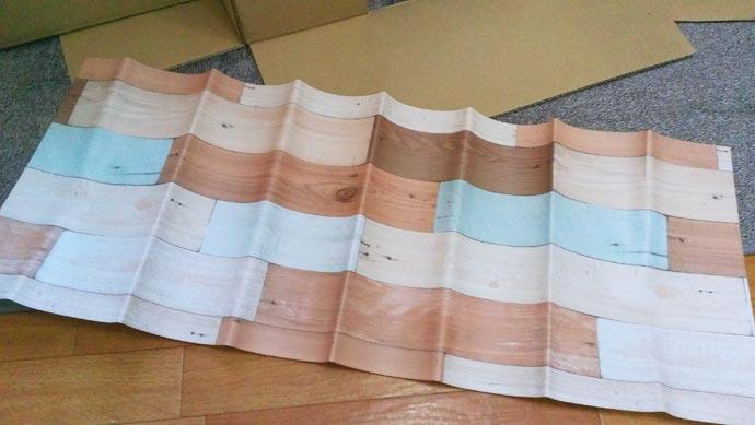100均で偶然見つけた壁紙 リメイクシート