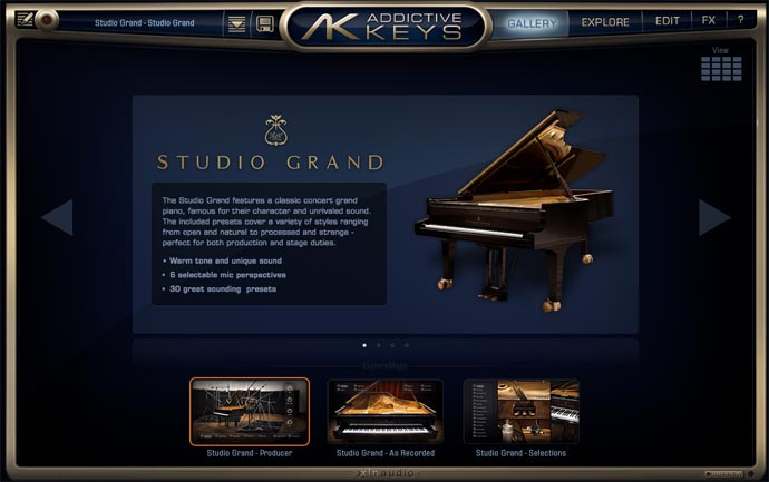 Addictibe keysプリセット「Studio Grand」