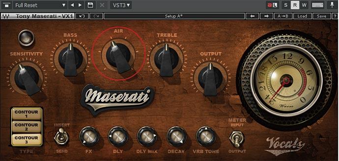MASERATI VX1 Air Contour 3 のみ
