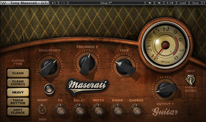 MASERATI GTi ギタータイプ「HEAVY」の設定