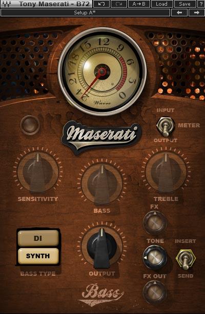 *Maserati B72 使用できないコントロールはグレーアウト表示に