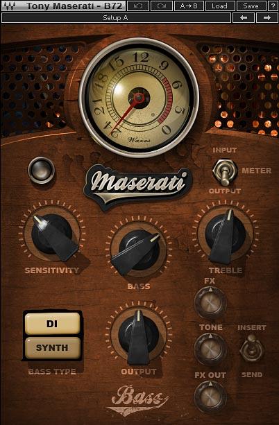 Tony Maserati B72 コントロールパネル