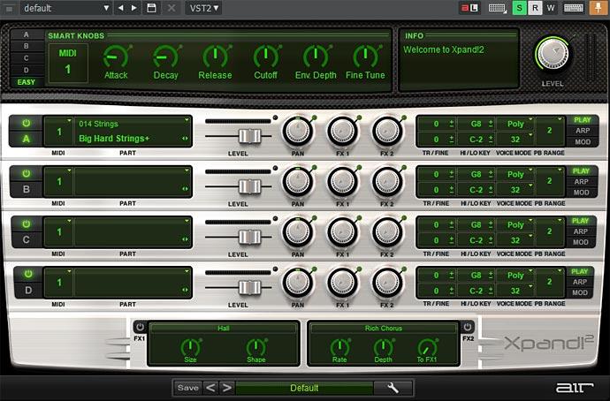 Xpand2プリセット「Big Hard Strings」