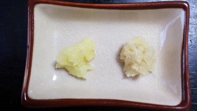 焼きナスの薬味-にんにく-ショウガ