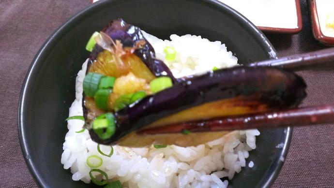薬味たっぷり焼きナス-実食