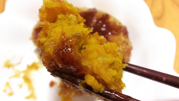カボチャのコロッケ-実食