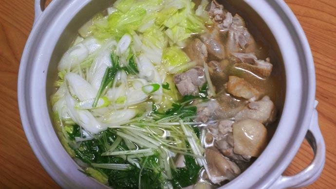 鶏塩鍋 完成