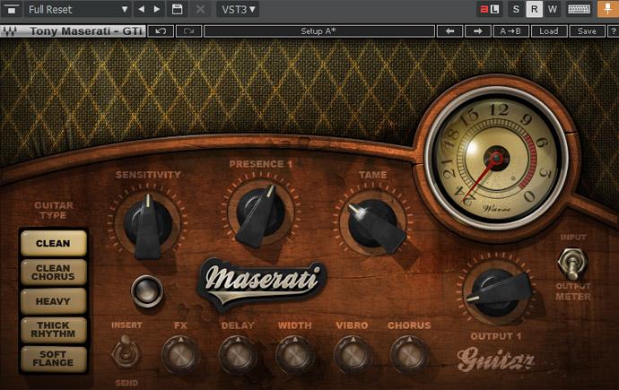 Maserati Gti Guitarトラックの設定